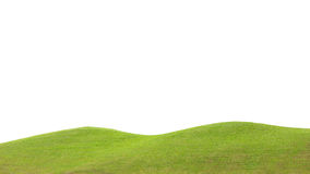 green field isolated against a white background Stock Images