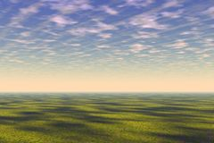 Green field landscape Royalty Free Stock Images