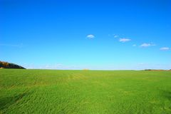 Green field with stack. Photo of the green field with stack Royalty Free Stock Images