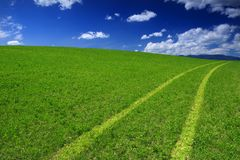 Green Field Way Royalty Free Stock Photography