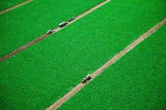 Green fields from above Stock Photos
