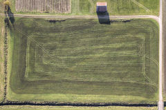 Green fields aerial view Stock Photography