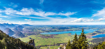 Green fields in Bavaria  in Germany Royalty Free Stock Photo