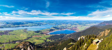 Green fields in Bavaria  in Germany Stock Photography