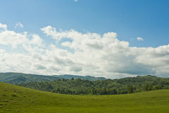 Green fields and hills Stock Photography