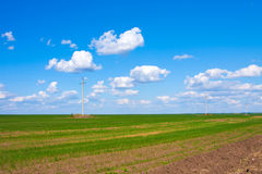 Green Fields, steppe of Kazakhstan Royalty Free Stock Photos