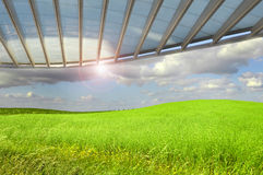 Green fields wallpaper Royalty Free Stock Photos