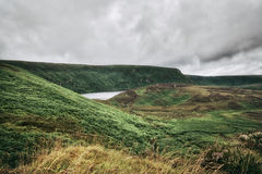 Green fields of Wicklow Mountains, Ireland royalty free stock photo