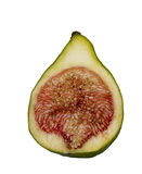 Green fig cut in half, isolated Stock Image