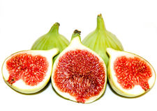 Green figs isolated on white Stock Photo