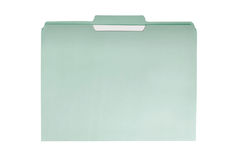 Green File Folder Royalty Free Stock Photo
