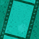 Green Filmstrip Means Text Space And Background Stock Images