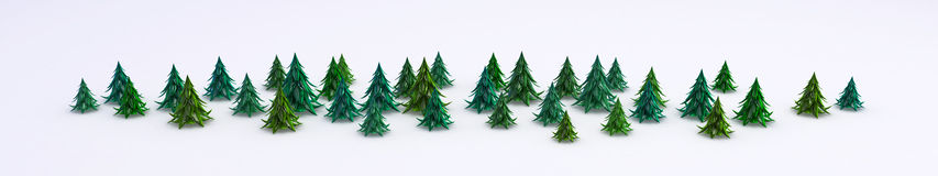 Green Fir Line Royalty Free Stock Photos