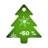 Green fir tree decoration Royalty Free Stock Image