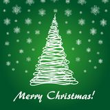 Green fir tree. For Merry Christmas 1 Royalty Free Stock Photos
