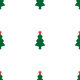 Green fir tree with red star. As seamless Stock Images