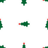 Green fir tree with red star. As seamless Stock Photography