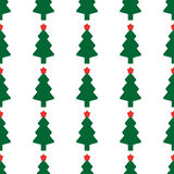 Green fir tree with red star. As seamless Stock Image