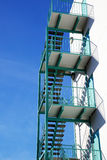 Green fire escape Royalty Free Stock Image
