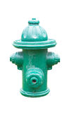 Green fire hydrant Royalty Free Stock Photo