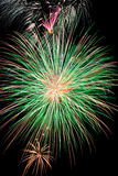 Green Firework Burst Royalty Free Stock Photography