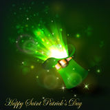 Green firework in leprechaun hat. For Saint Patrics Day Royalty Free Stock Photo