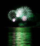 Green Fireworks Royalty Free Stock Photos