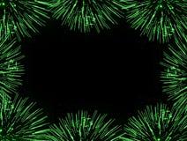 Green fireworks frame Stock Image