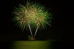 Green fireworks Royalty Free Stock Images