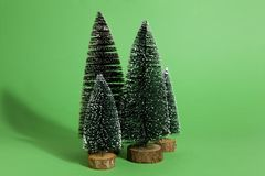 Green firs forest Royalty Free Stock Photography