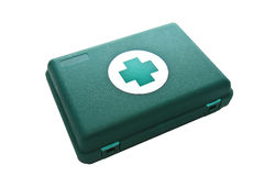 Green First Aid Box. Green First Medical Aid Box isolated on White Royalty Free Stock Photos
