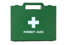 Green First Aid Kit Box Royalty Free Stock Photo