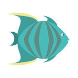 Green fish marine species icon. Illustration eps 10 Stock Images