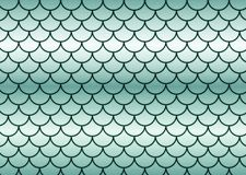 Green fish scales. Royalty Free Stock Photo
