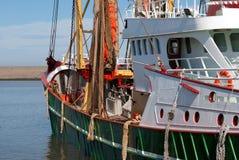 Green fish trawler. Green fish boat or trawler for fishing Royalty Free Stock Photography