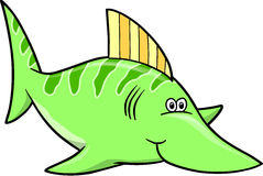 Green fish Vector Illustration Royalty Free Stock Images