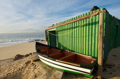 Green fishing boat Royalty Free Stock Photography