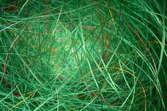 Green fishing line Royalty Free Stock Image