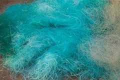 Green fishing net. With a fine texture stock photos