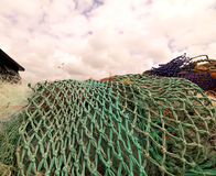 Green fishing nets Stock Photography