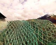 Green fishing nets Stock Photography