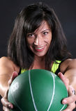 Green Fitness Ball Royalty Free Stock Photography