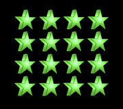 Green five pointed star Stock Photos