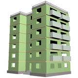Green five-story building 1 Stock Photo