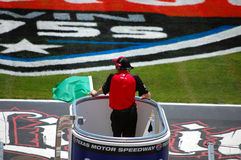 Green flag. Being waved at the Firestone Twin 275s Indy Car Race at Texas Motor Speedway Royalty Free Stock Image
