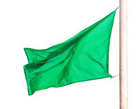 Green flag. Isolated over white Stock Photography