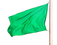 Green flag  over white Royalty Free Stock Photography