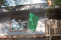 The green flag shows the quality of the air. The green flag shows the quality of the good air stock images