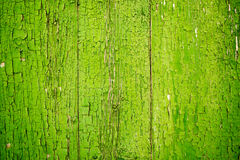 Green Flaking Paint on Wood Old and Worn Royalty Free Stock Photo