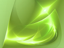 Green flame. Digital illustration. Backgrounds Stock Photography